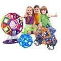 Aocoren niños juguetes 103 unids ladrillos enlighten educativos magformers juguete de diseño 3d diy bloques de construcción magnética