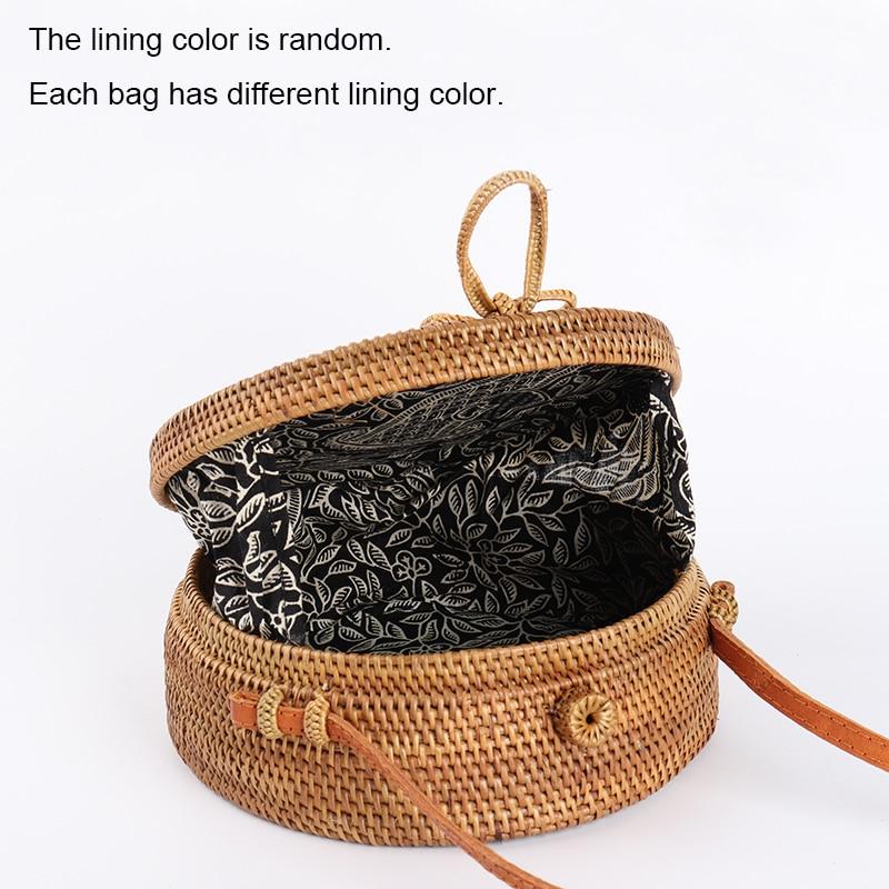 Arpimala 2018 Bali Circle Straw Bags For Women Handmade Round Beach