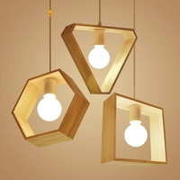 home lamps Pendant Lights Nordic wood indoor LED modern ceiling Hanging Lighting Fixture for kitchen island dining room bedroom