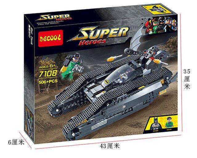 7108 superhéroes Batman tanques rompecabezas bloques de montaje juguetes para niños