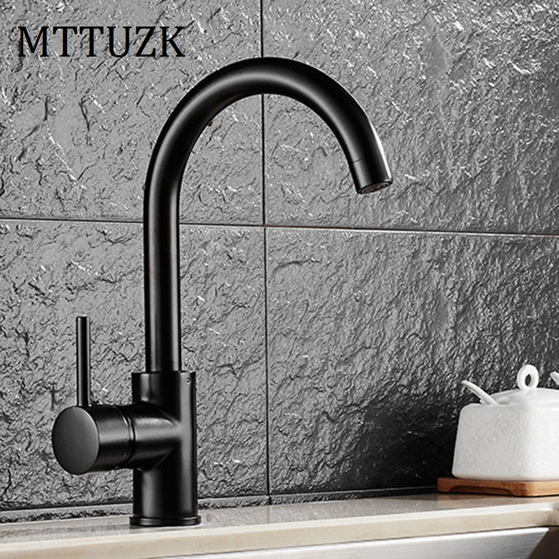 Free Shipping deck mounted 360 degree rotating copper Black kitchen faucet hot and cold water vegetables basin sink mixer tap free shipping new style black bronze copper folding kitchen faucet double handles for cold and hot water mixer xt509