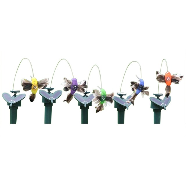 Funny Solar Toys Flying Fluttering Hummingbird Flying Powered Birds Random Color For Garden Decoration Drop Shipping 2