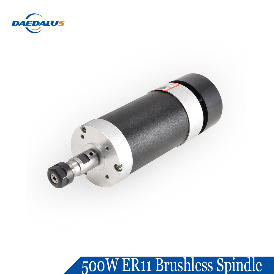 Daedalus 500w Brushless Spindle Motor ER11 48V DC Air Cooled DC Machine Tool Spindle 12000rpm for