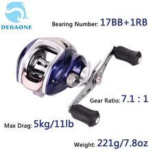 DEBAONE 17BB+1RB Baitcasting Reel 7.1:1 Low Profile Fishing Magnetic Brake System