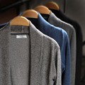 Primavera masculina de los hombres chaqueta de punto Con Cuello En V otoño de manga larga delgado mantisas capa de la manera outwear Jersey