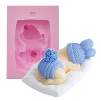 New Arrival 1 Pc 3D Baby Shaped Silicone Mold Fondant Cake Decorating Soap Candle Mold Crafts