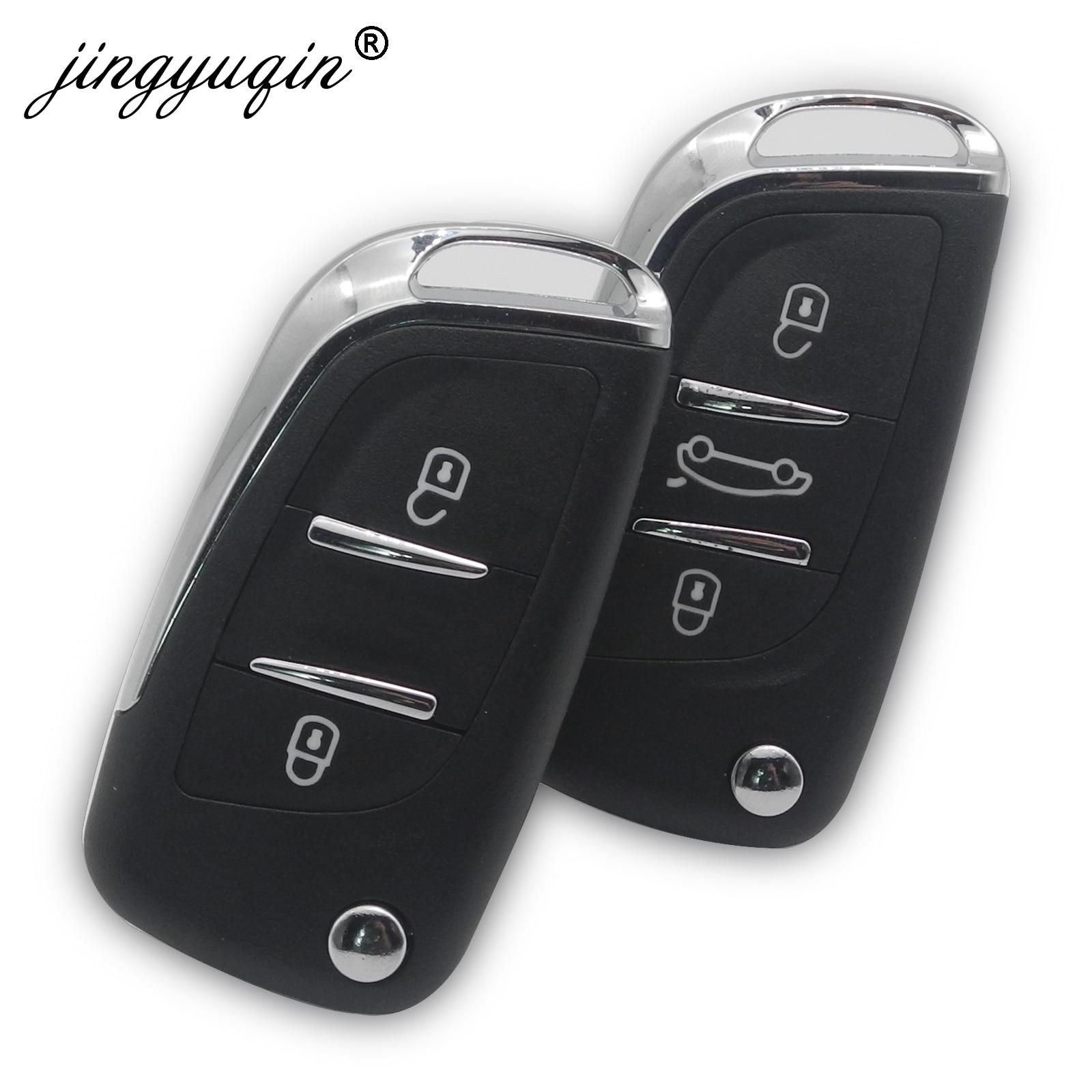 Jingyuqin VA2/HCA modificado 2/3BTN plegable coche remoto clave Shell para Citroen C5 C4 escotilla Coupe VTR c6 C8 C2 Berlingo Xsara Picasso