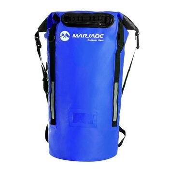 40L al aire libre río Trekking bolsa doble correas de hombro Paquete de agua natación mochila bolsas a prueba de agua a la deriva en kayak