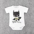 2016 Новорожденных Бэтмен Baby Boy Одежда Ropa Bebe Хлопок Короткий Рукав Супермен Ребенка Комбинезон Костюм Рождения Ребенка Одежды Тела