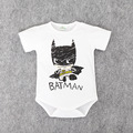 2016 Newborn Batman Baby Boy Clothes Ropa Bebe Cotton Short Sleeve Superman Baby Rompers Baby Costume Birthday Baby Body Clothes