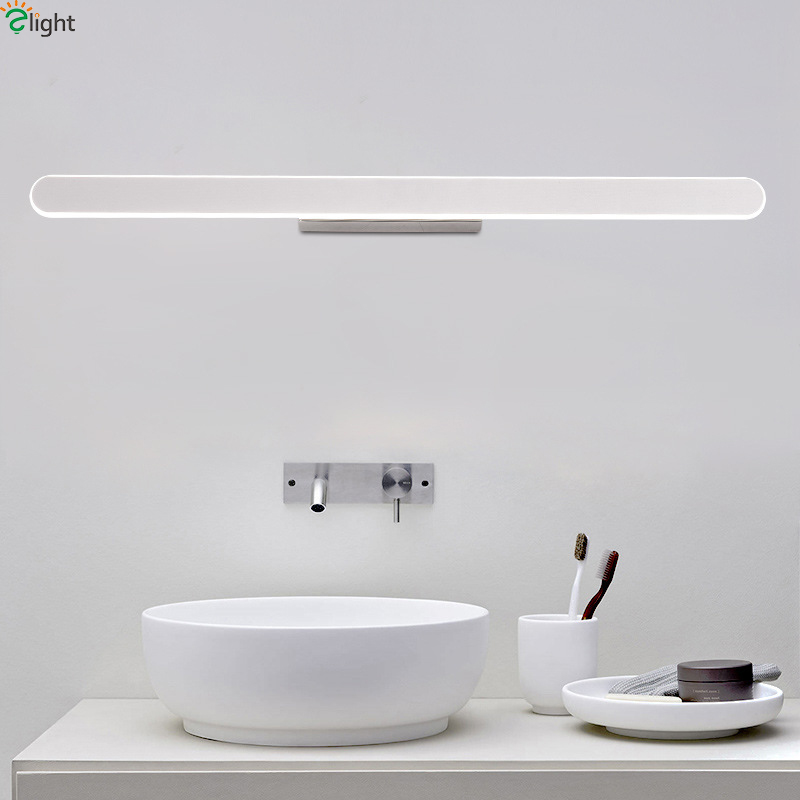 Modern Simple Aluminum Dimmable Led Wall Lights Bathroom Led Wall Lamp Bedroom Wall Light Washroom Mirror Led Wall Sconce modern minimalist waterproof antifog aluminum acryl long led mirror light for bathroom cabinet aisle wall lamp 35 48 61cm 1134