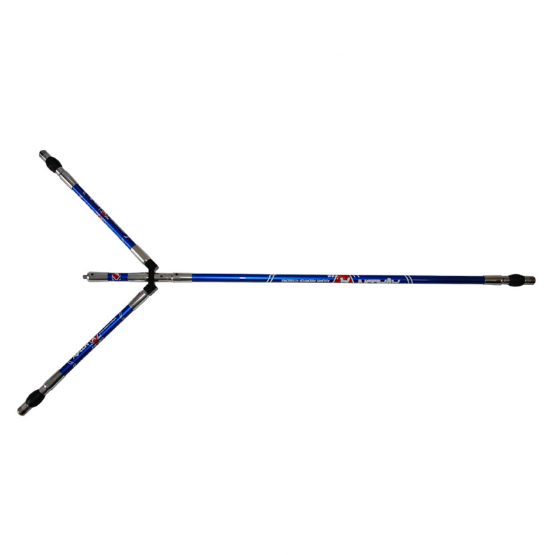 Archery recurve bow stabilizer aluminum bow shock-proof poles split joint type bow accessories 1 piece dmar recurve bow archery stabilizer balance rod v bar damping rod shock absorber bow hunting accessories