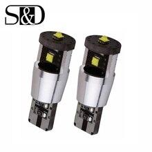 2 шт. w5w T10 светодиодный ламп супер яркий 194 168 светодиодный 15 W Canbus Автомобильный источник света светодиодный DRL interir свет Instrunment лампа с обманкой