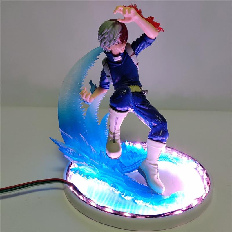 meu heroi academia todoroki shoto led iluminacao anime diy lampada de energia decoracao casa figura luz