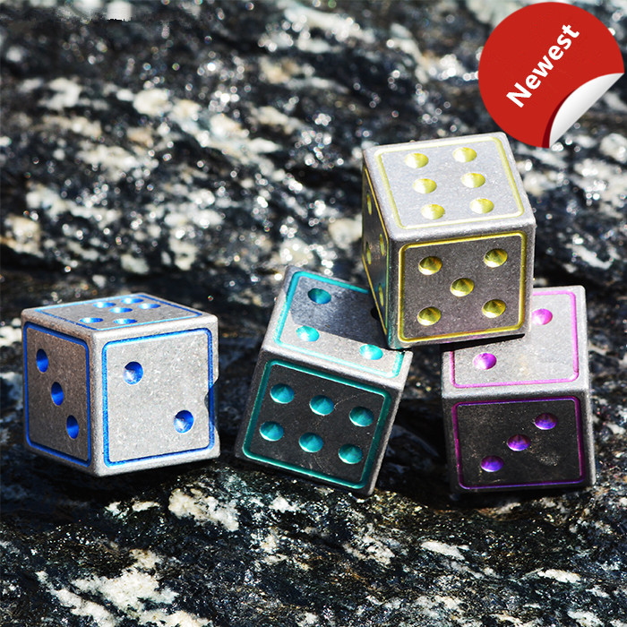 A Style Titanium Alloy EDC Frozen Ice Metal Dice Bar Wine Set Dice Red Wine Beer Drink Ice Cubes EDC Multi Tools