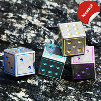 A Style Titanium Alloy EDC Frozen Ice Metal Dice Bar Wine Set Dice Red Wine Beer