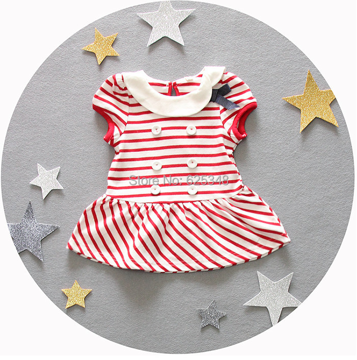 2017 cotton striped newborn baby girls dresses baby dress infant dresses baby clothing children kids vestido infantil menina