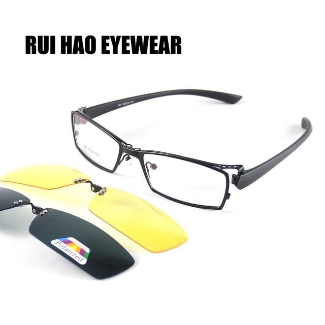 rui hao eyewear eyeglasses frame men eyewear frame women magnetic polarized sunglasses clip on and yellow - Yellow Eyeglass Frames
