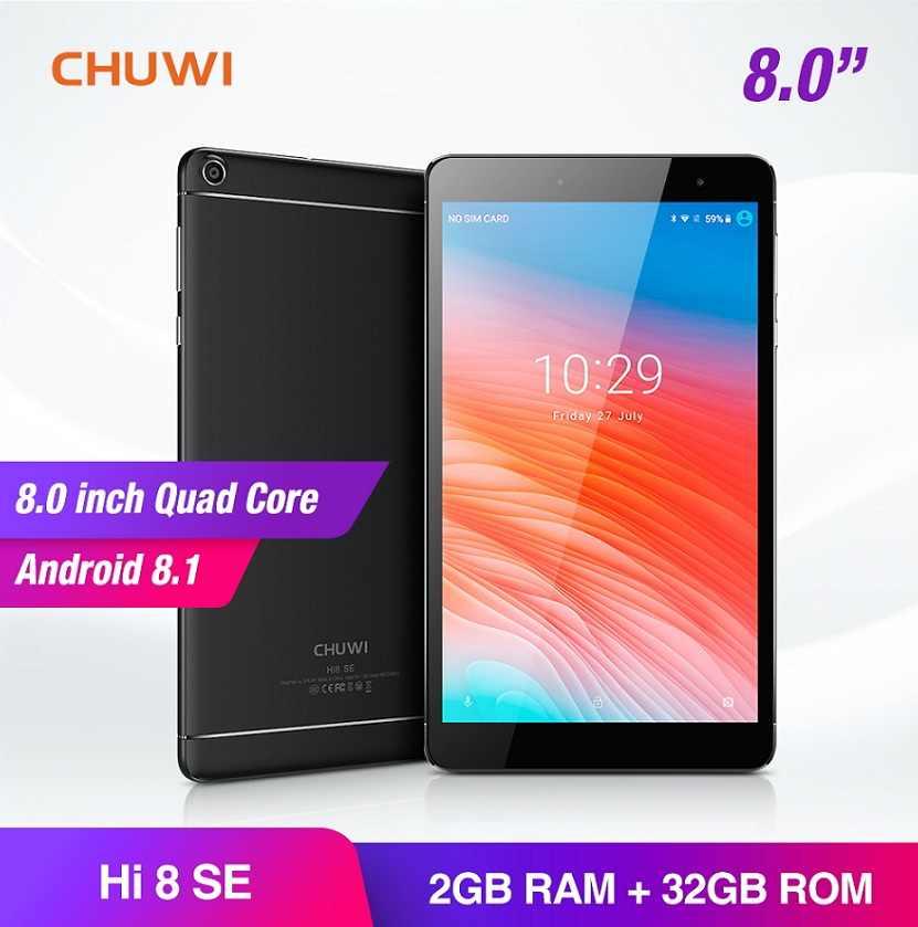 CHUWI Hi8 SE планшет ПК Android 8,1 MTK8735 четырехъядерный 2 Гб ОЗУ 32 Гб ПЗУ двойная камера двойной wifi 2,4G/5G 8 дюймов 1920*1200 планшеты