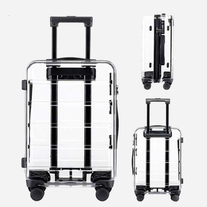 """Heerlijk Carrylove 20 """"inch Transparant Carry Op Trolley Case Reizen Koffer 24"""" Hardside Rolling Bagage Gunstig Voor EssentiëLe Medulla"""