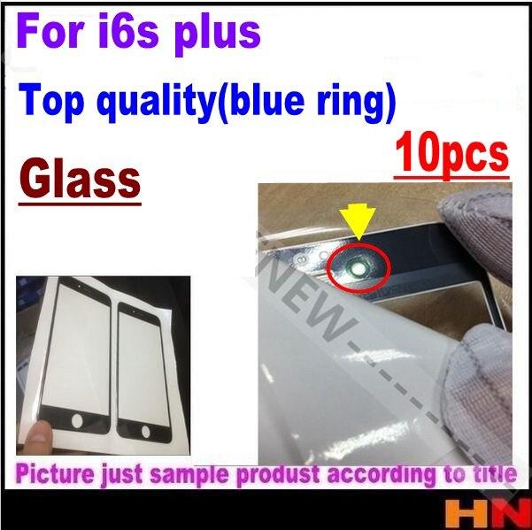 imágenes para 10 unids nuevo para iphone 6s 6sp plus de calidad superior cubierta de vidrio cubierta de vidrio para la reparación lcd oca vidrio usuario