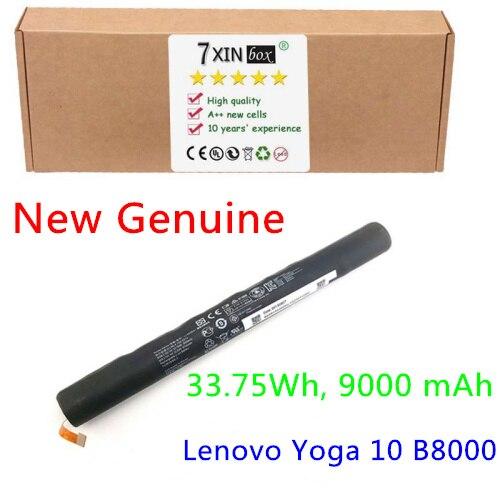 New 3.75V 33.75Wh 9000mAh L13D3E31 L13C3E3C Battery for Lenovo YOGA TABLET B8000 B8000-F 10 Series 1ICR19/65-3 3 75v 9000mah new original laptop battery for yoga 10 tablet b8000 10 battery l13d3e31 l13c3e31 batteries free shipping