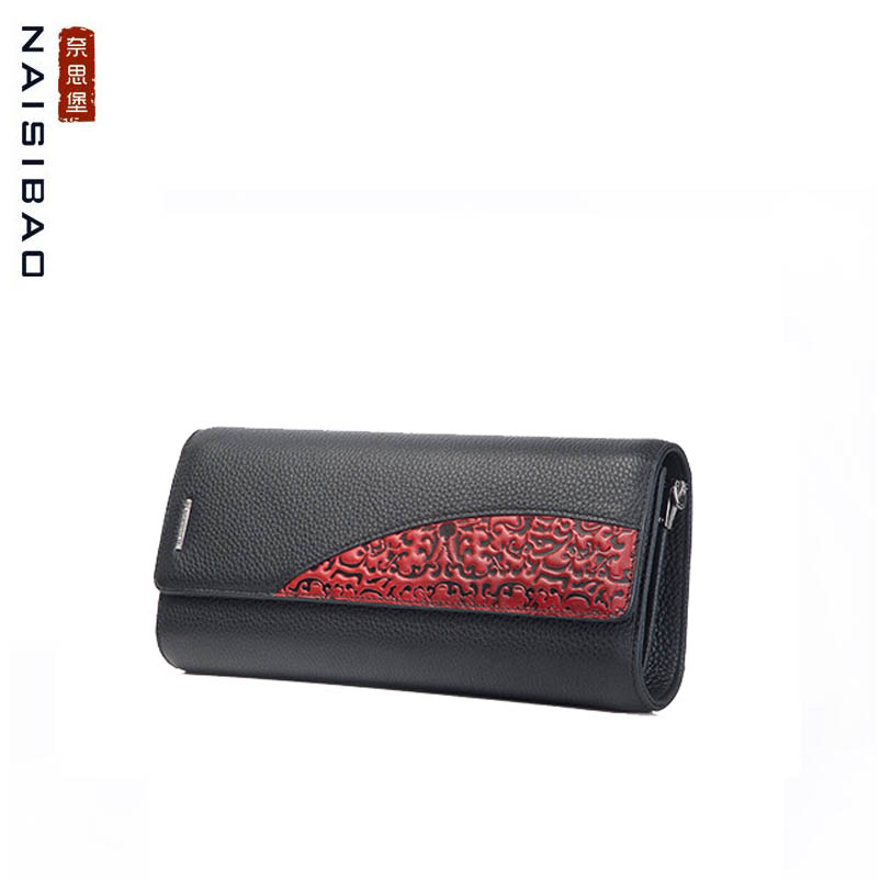 Clutch bag 2018 new leather shoulder bag Chain crossbody bag top layer cowhide embossing glitter decor chain crossbody bag