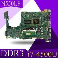 XinKaidi Laptop Motherboard For ASUS Q550LF N550LF PC PN 60NB0230 MBB000 N550LF MAIN BOARD CPU i7 4500U DDR3 100% Fully Tested
