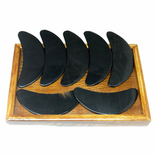 Good quality! Beauty face Massager Scrape Therapy Guasha kit 100% Ox Horn (half moon shape)  25 pieces/lot цены