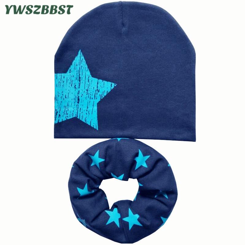 Nova jesen Zimska bombažna otroška kapa Set za dojenčke dečke - Oblačilni dodatki
