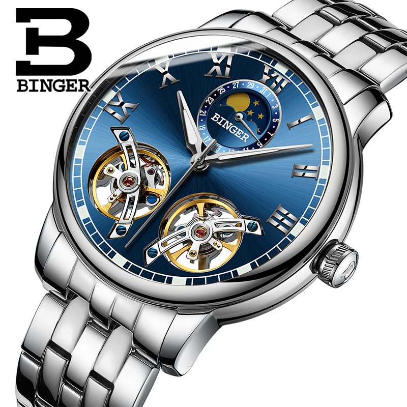 2018 NEW arrival mens watch luxury brand BINGER sapphire Water Resistant toubillon full steel Mechanical Wristwatches B-8607M-32018 NEW arrival mens watch luxury brand BINGER sapphire Water Resistant toubillon full steel Mechanical Wristwatches B-8607M-3