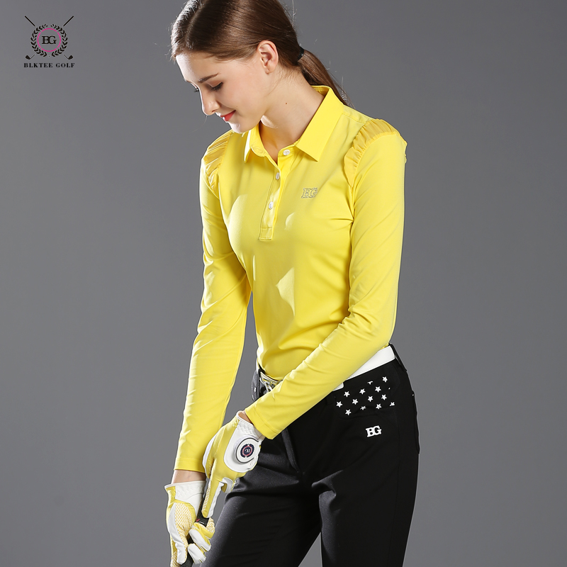 2017 Bg golf shirt womens long-sleeve shirt lady brand shirt sports outwear girl comfortable shirt golf top 3 colors sportswear