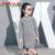 Chifave 2016 Novo Design Crianças Roupas 0-pescoço Colarinho Fenda Longa Meninas Camisola de Algodão Crianças Meninas Malha Pulôver Camisola 3 Cores