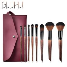 2019 10pcs/set Champagne makeup brushes set for cosmetic foundation blush eyeshadow kabuki blending make up brush beauty tool