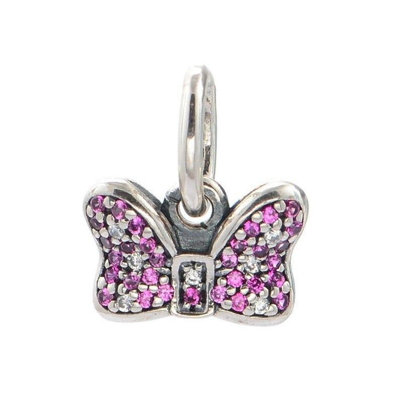 5667f7f435f5 Pandora plata Cuentas encanto se adapta a pulsera de plata gargantilla 925  joyería de plata esterlina clásico bowknot perla Pavimentada