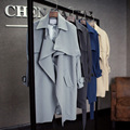 2016 New high quaity Women Autumn Spring Ladies long Cotton casual jacket Outwear long Coats Trench