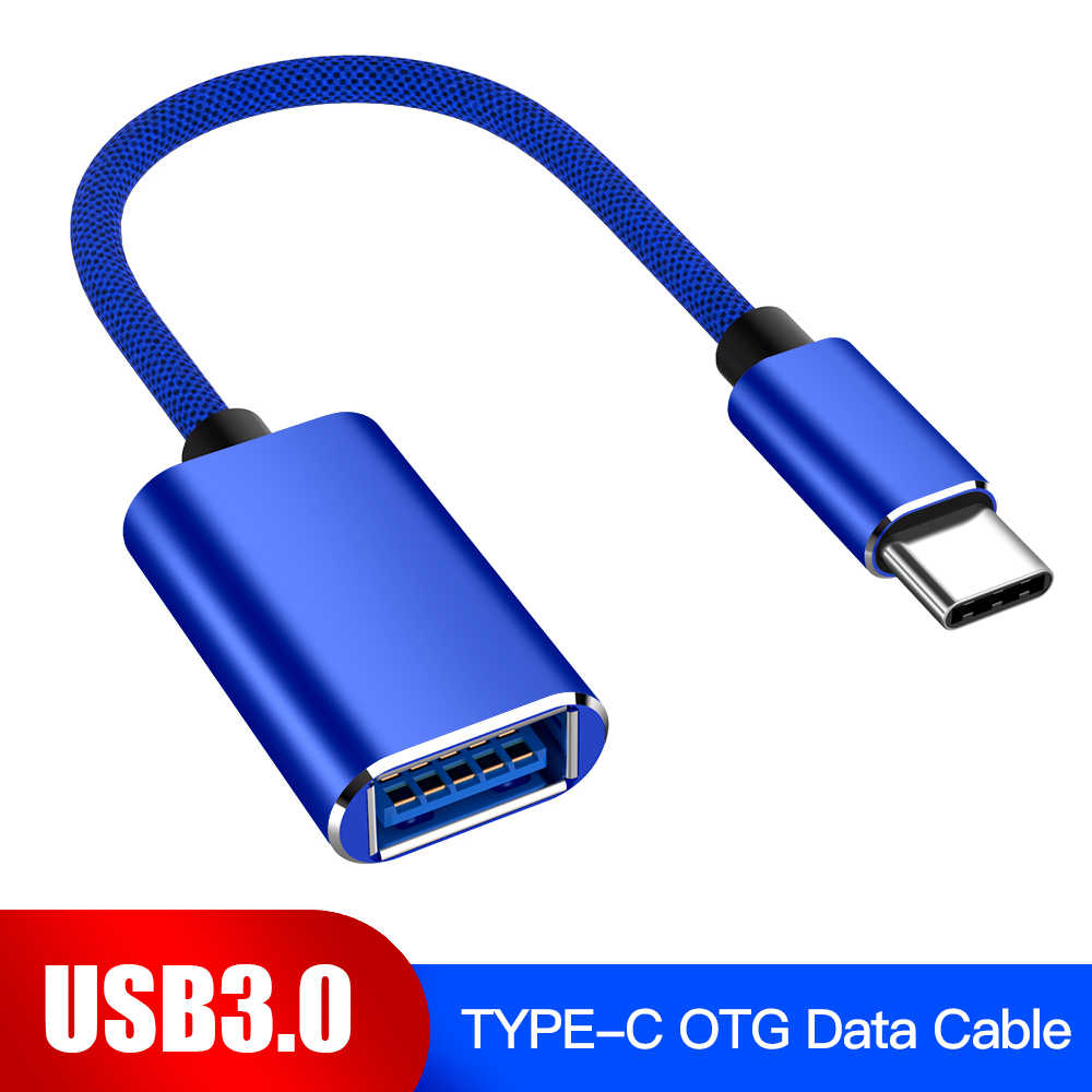USB-C kabel OTG type-c męski na USB 3.0 żeński metalowy konwerter do Samsung S10 S9 Macbook Xiaomi Mi8 Huawei USB3.0 do type-c OTG