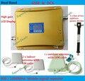 Pantalla LCD! doble banda 2G 4G repetidor GSM 900 + DCS 1800 repetidor amplificador de señal de teléfono móvil dos antenas de interior grupos de presión