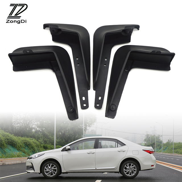 ZD Car Front Rear Mudguards For Toyota Corolla Altis 2014 2015 2016 2017  Accessories Fenders Car