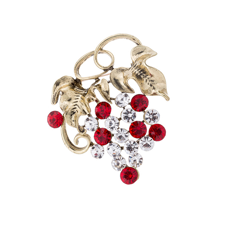 TDQUEEN Fashion Crystal Grape Brooches Cute Jewelry Rhinestone Grape Brooches Women Present (1)A