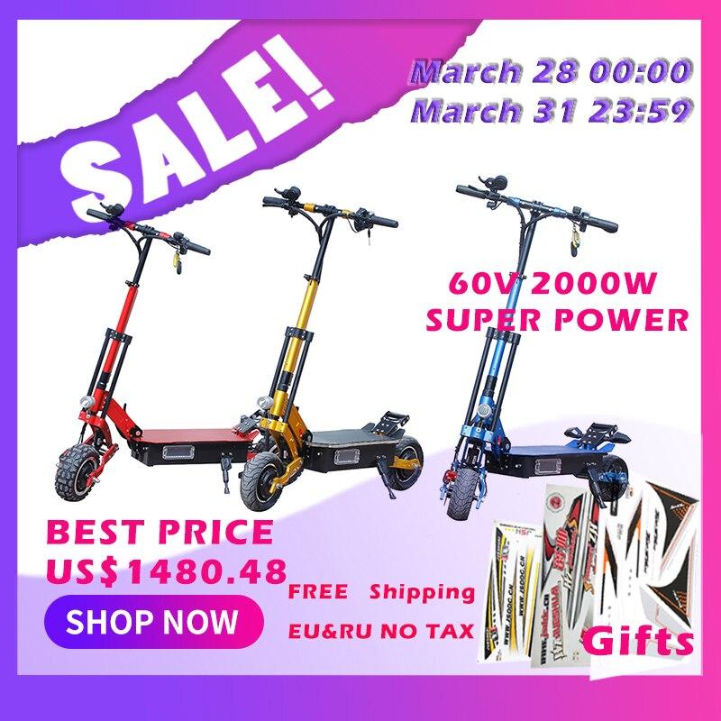60 V 2000 W scooter électrique 10 pouces 75 km/h pliable hoverboad vélo électrique avec siège samsung batterie au lithium 8 pouces 48 V escooter
