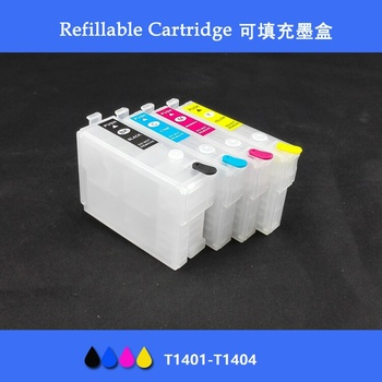 INK WAY Empty Refillable cartridges For Epson T1401 - T1404 ,Suit for TX560WD NX635 WF-3520 WF-3530 WF-3540 TX620FWD with ARC