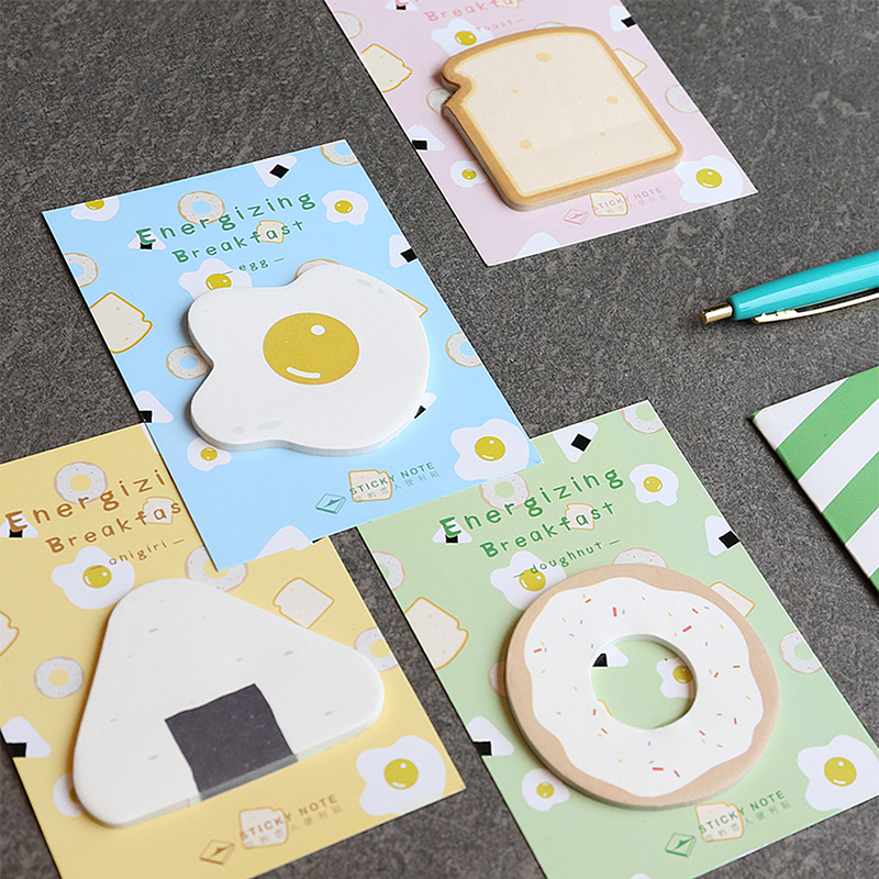 8 pcs/Lot Energizing breakfast sticky note Message post sticker Cute memo pad Office accessories Stationery School supplies 6136