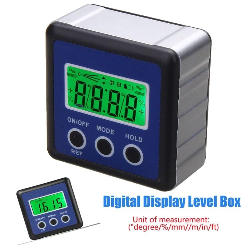 Digital Level Measuring Instruments LCD Display Box Gauge Angle Protractor Level Inclinometer Magnetic Base Declinometer lixf dxl360s digital lcd protractor inclinometer single dual axis level box 0 01 degree