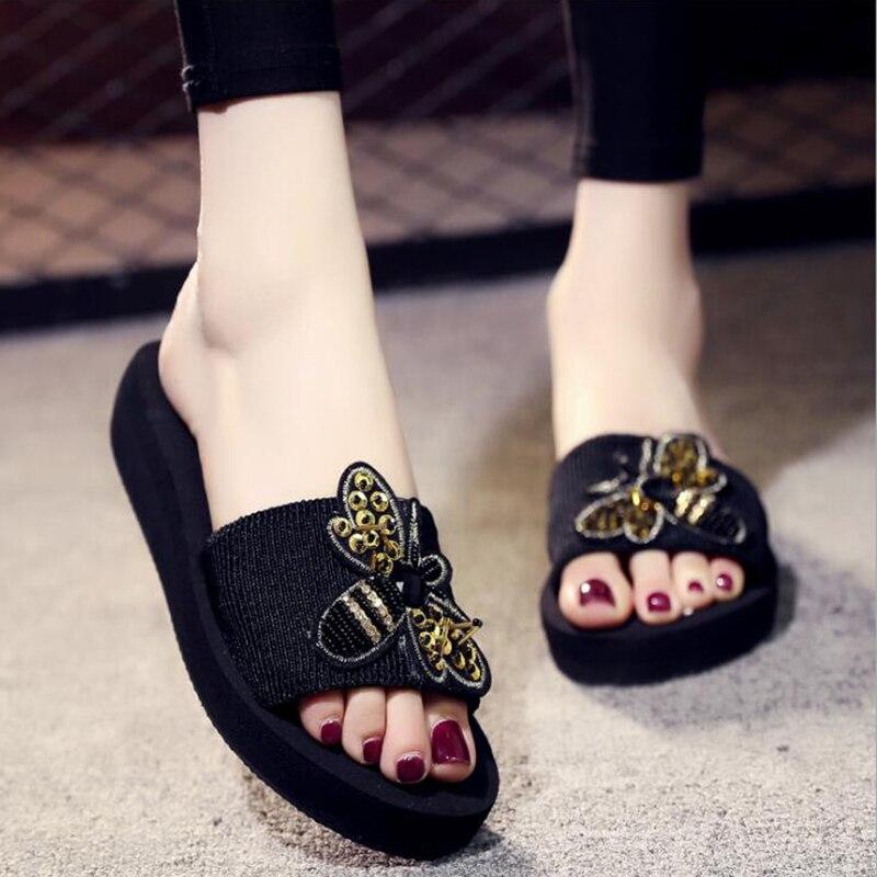 High heels women's slippers Summer beach platform shoes 1