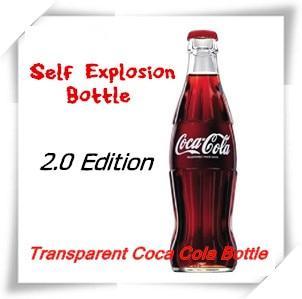 6PCS Self Explosion Bottle 2 0 Edition Mentalism Magic Trick Glass Magic Gimmick Stage Magic Illusions