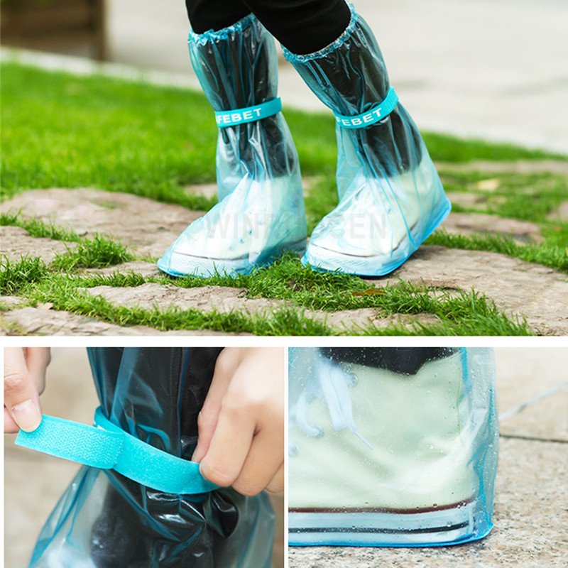 Long and Waterproof Shoe Cover for Men and Women Reusable for Shoes with Anti Slip and Anti Grinding Property 4