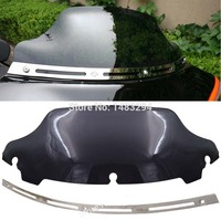 Slotted Stock Batwing Trim 6 Black Windshield Fits Fits For Harley Touring Electra Glide 1996 2013