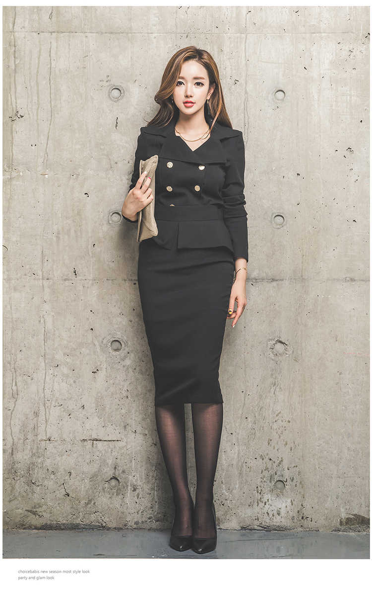 e21b9ff53bc0 ... ZAWFL 2 Piece set Women Skirt Suits Women Business Suits Office Uniform  Designs Women Elegant Work ...