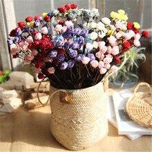 ФОТО factory direct offer bouquet 15 small rose head flower hot sale foam flower head flower garden style wedding party fake flower